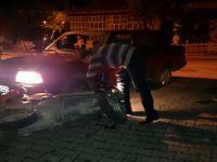 Beypazarı Doğan Kent Girişinde Motorsikletle Taksi Kaza Yaptı 2 Hafif Yaralı