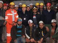 Türk Maden İşçileri Sendikası Genel Başkanı Nurettin Akçul Çeltek İşçilerini Ziyaret Etti
