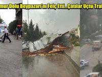 Fırtına Yağmur Dolu Beypazarı'nı Felç Etti...Çatılar Uçtu Trafik Tıkandı...