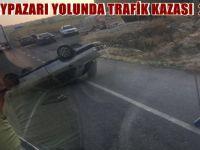 AYAŞ BEYPAZARI YOLUNDA TRAFİK KAZASI  2 YARALI