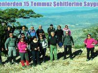 Beypazarı'nda Bir Grup Öğretmen, 15 Temmuz Şehitlerine Saygı Yürüyüşü gerçekleştirdi.