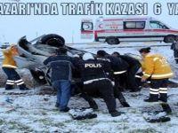 BEYPAZARI'NDA TRAFİK KAZASI; 1 AĞIR 6 KİŞİ YARALANDI