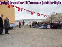 Beypazarı'nda Öğrenciler 15 Temmuz Şehitleri İçin Fidan Dikti