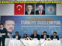 Ak Parti Beypazarı İlçe Gençlik Kolları 5. Olağan Kongresini Yaptı