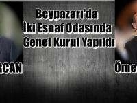 Beypazarı'da İki Esnaf Odasında Genel Kurul Yapıldı Şöförlere Ömer ERCAN Bakkallara Ömer KOÇER Başkan Seçildiler