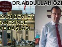 DR.ABDULLAH ÖZDEMİR BEYPAZARI DEVLET HASTANESİNDE GÖREVE BAŞLADI