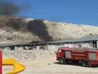 Beypazarı'nda Şehir Dışındaki Tüp Depolarında Yangın Çıktı