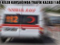 BEYPAZARI KİLER KAVŞAĞINDA TRAFİK KAZASI 1 AĞIR YARALI