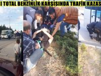 BEYPAZARI TOTAL BENZİNLİK KARŞISINDA TRAFİK KAZASI 1 YARALI