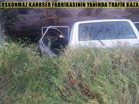 BEYPAZARI KUŞKONMAZ KAROSER FABRİKASININ YANINDA TRAFİK KAZASI 2 YARALI