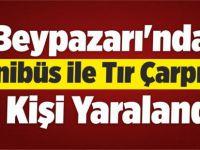 Beypazarı'nda Minibüs İle Tır Çarpıştı 3 Yaralı