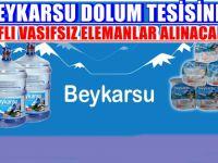 BEYKARSU DOLUM TESİSİNE VASIFLI VASIFSIZ ELEMANLAR ALINACAKTIR