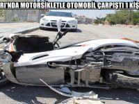 BEYPAZARI'NDA MOTORSİKLETLE OTOMOBİL ÇARPIŞTI 1 KİŞİ YARALI