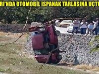 BEYPAZARI'NDA OTOMOBİL ISPANAK TARLASINA UÇTU 1 YARALI