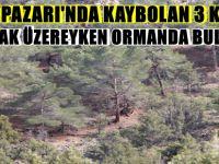 BEYPAZARI'NDA KAYBOLAN 3 KİŞİ DONMAK ÜZEREYKEN ORMANDA BULUNDU