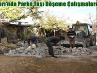 Beypazarı'nda Parke Taşı Döşeme Çalışmaları Sürüyor