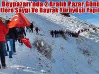 Beypazarı'nda 2 Aralık Pazar Günü Şehitlere Saygı Ve Bayrak Yürüyüşü Yapılacak