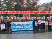 BEYPAZARI'NDA '' KAN KARDEŞİM OLURMUSUN '' PROJESİNE BÜYÜK DESTEK
