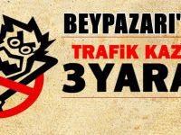 BEYPAZARI'NDA TRAFİK KAZASI 3 YARALI