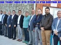 BEYPAZARI TİCARET ODASI (BTO) ÜYELERİ İLE İFTAR DAVETİNDE BULUŞTU