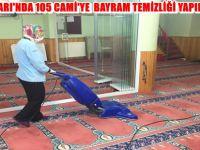 BEYPAZARI'NDA 105 CAMİ'YE  BAYRAM TEMİZLİĞİ YAPILIYOR