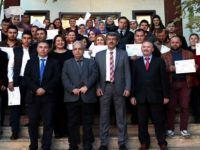Beypazarı Belediyesi´nce açılan KOSGEB Uygulamalı Girişimcilik eğitimi kurslarını tamamlayan kursiyerlere sertifikaları verildi