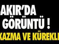 Diyarbakır'da, PKK'nın gençlik yapılanması YDG-H üyeleri hendek kazdı.
