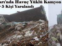 Beypazarı'nda Havuç Yüklü Kamyon Devrildi  1 Ağır 5 Kişi Yaralandı